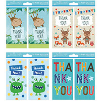 Tallon 4 Design Boy Thank You Cards Pack of 192 4483