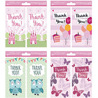 Tallon 4 Design Girl Thank You Cards Pack of 192 4485