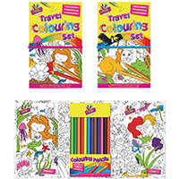 Tallon Children's Travel Colouring Set Pack of 6 6839