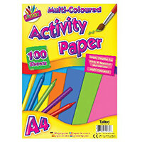 Art Box Activity Paper 100 Sheet A4 Assorted Pack of 12 TAL05044