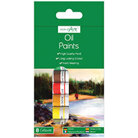 Work of Art Hard-Wearing Oil Paint Tubes Assorted Pack of 12 TAL06740