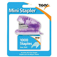 Tiger Mini 26/6 Stapler including 1000 Staples Pack of 6 301506