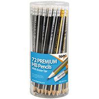 Tiger HB Eraser Tip Pencils Pot Assorted Pack of 72 301534