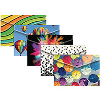 A4 Plus Fashion Press Stud Wallets In Assorted Colours Pack of 25 301647
