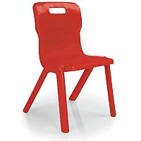 Titan School Chair 350mm 5-7 Years Red TI3