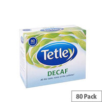 Tetley Decaffeinated Tea Bags (80 Pack) 5012X