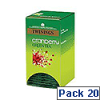 Twinings Cranberry Green Tea F08046 Pk20