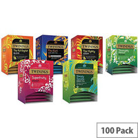 Twinings Pure Variety Pack Pyramid Tea Bags Pack of 100 F14595