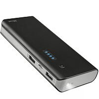Trust PowerBank 10000mAh 2 USB Ports, Flashlight, Black
