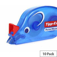 Tipp-Ex Pocket Mouse Corrector Retail Blister Packed Single 4.2mmx10m Pack 10 Ref 820790