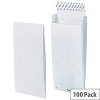 Tyvek B4 353x250x38mm Peel and Seal White Gusset Envelopes Pack of 100