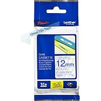 Brother TZe-133 12mm blue on Clear Standard Adhesive Laminated Tape Cassette 8 Metres