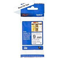 Brother TZe-N221 9mm Black on White Standard Adhesive non-laminated TZe Tape Cassette 8 Metres