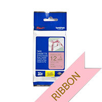 Brother TZeRE34 Gold on Pink Ribbon Label Tape 12mm