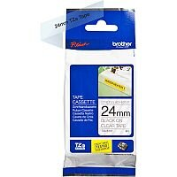 Brother TZe-S151 24mm Black on Clear Strong Adhesive Laminated TZe Tape Cassette 8 Metres