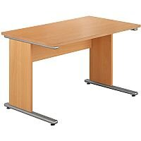 Urban Straight Desk 1180mm Wide Beech UB1180B