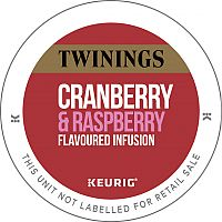 Twinings Cranberry & Raspberry Infusion Tea 10 K-Cup Pods for Keurig