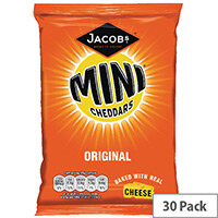 Jacobs Mini Cheddars Original Grab Bag Pack of 30 36564