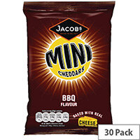 Jacobs Mini Cheddars BBQ Grab Bag Pack of 30 70818