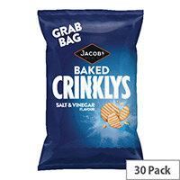 Jacobs Crinklys Salt and Vinegar Grab Bag Pack of 30 13122