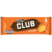 McVities Club Orange Biscuits Pack of 8 16726