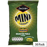 Jacobs Mini Cheddars Branston Pickle Grab Bag Pack of 30 27814