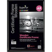 Stewart Superior Seco Snap Frame A4 Wood Black WPA4