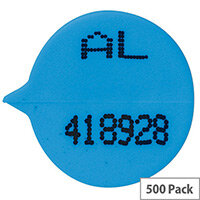 Go Secure Numbered Round Seal Blue (Pack of 500) S3B