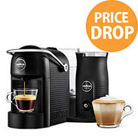 Lavazza A Modo Mio Jolie & Milk Capsule Coffee Machine with Milk Frother Black