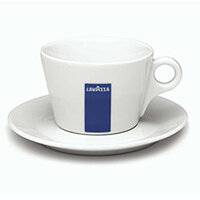 Lavazza Cappuccino/Americano 8oz Ceramic Cups With Saucers Set of 6