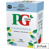 PG Tips Camomile Envelope Tea Bags Pack of 25 49095901