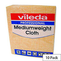 Vileda Medium Weight Cloth Yellow Pack 10