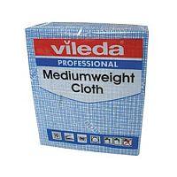 Vileda Medium Weight Cloth Blue Pk10 1063