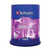 Verbatim DVD+R 16X Non-Printable Spindle Pack of 100 43551