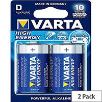 VARTA High Energy Alkaline D Battery (Pack of 2)