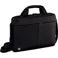 Wenger Format 16in Laptop Slimcase Bag with Tablet Pocket - Black 601062