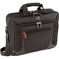 Wenger Sensor 15in MacBook Pro Briefcase with iPad Pocket - Easy-access front zippered pocket - Adjustable padded shoulder strap & double soft grip handles & trolley strap - lockable zippers - 600643