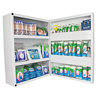 Wallace Cameron Metal Wall Cabinet with 50 Person First-Aid Compliance Kit