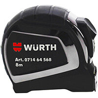 Wurth Pocket Tape Measure - MSRETPE-POKT-W25MM-L8M Ref. 071464 568