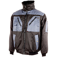 Wurth Nevada Bomber Jacket - PILOTENBLOUSON NEVADA GREY/BLACK S Ref. M011037000