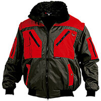 Wurth Nevada Bomber Jacket - Pilot Blouson NEVADA Black/RED S Ref. M011067000