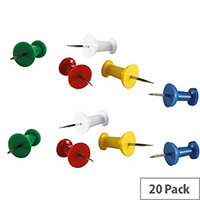 Push Pins Assorted Pack 20 20371