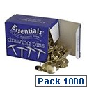 Essentials Drawing Pin 12.5mm Pack 10 x 100