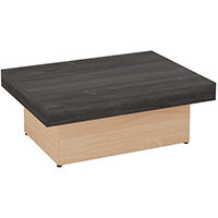 Auttica 800mm Coffee Table with ST Moritz Walnut Top & Beech Base