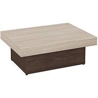 Auttica 800mm Coffee Table with Madrid Oak Top & Dark Walnut Base
