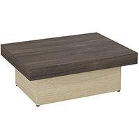 Auttica 800mm Coffee Table with Dublin Oak Top & Urban Oak Base