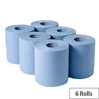 Whitebox 1 Ply Blue Centrefeed 288mx180mm Pack of 6