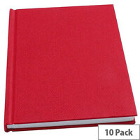 Whitebox A6 Ruled Manuscript Book Pack of 10