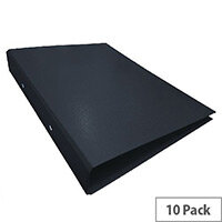 Ring Binder A4 Black Pack of 10 WX02005