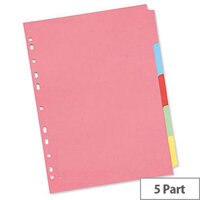 A4 Manilla Subject Divider 5-Part Multi-Colour WX26081